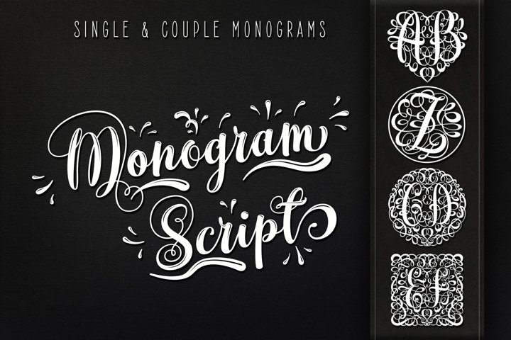 Monogram Script | Full Alphabet Single & Couple Monograms