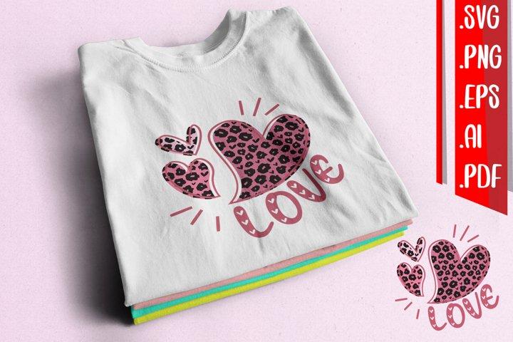 Love Leopard Pattern svg eps ai png pdf