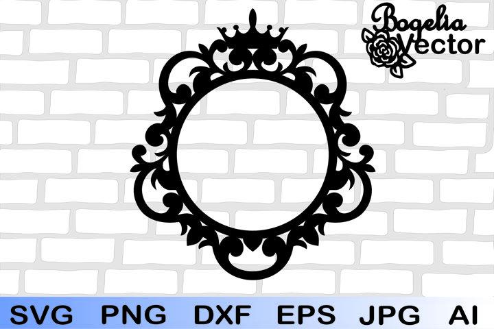 Frame Crown Svg, Crown Svg, Frame Svg, Monogram Frame Svg