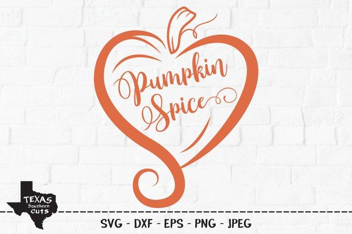 Pumpkin Spice Heart SVG, Cut File, Fall Shirt Design