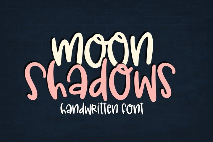 Moon Shadows Handwritten Font for Crafters