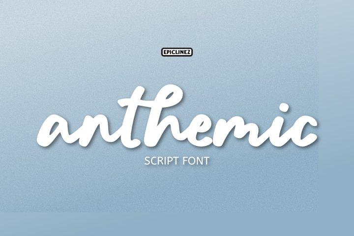 Anthemic | Stylish Script Font