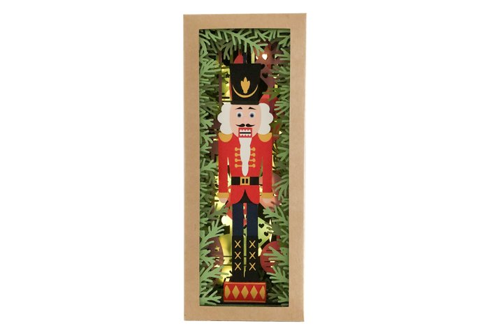 Christmas Nutcracker Colour Book Nook Shadow Box Template
