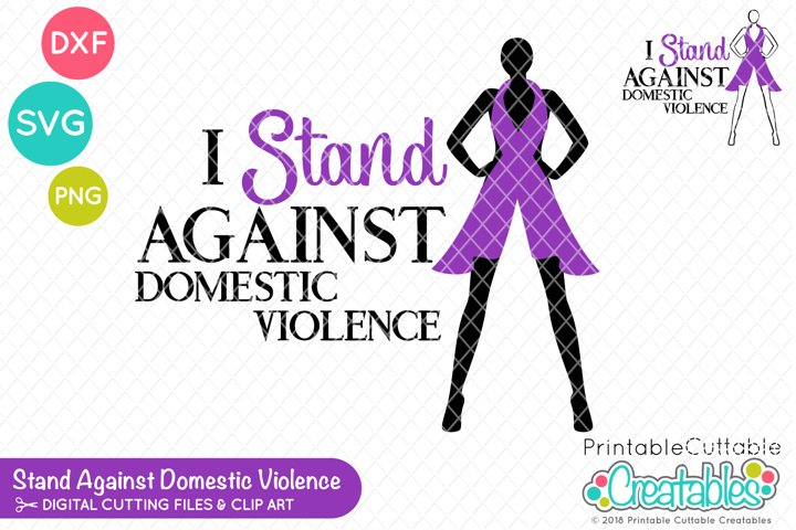 I Stand Against Domestic Violence SVG