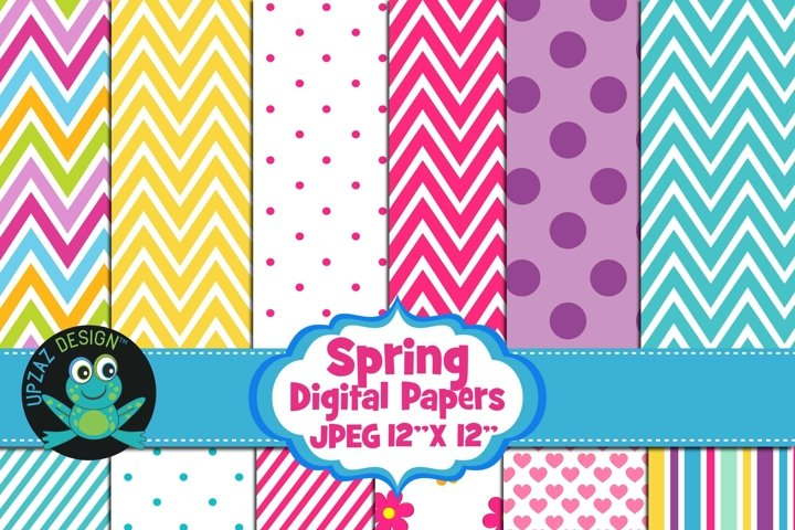 Spring Colors Digital Papers
