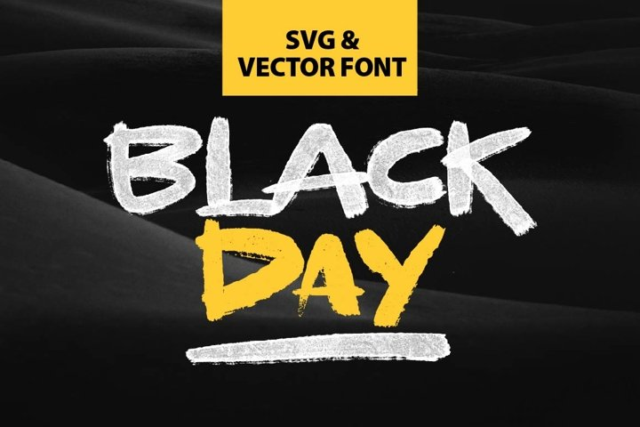 BLACKDAY - SVG & VECTOR font