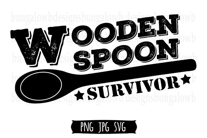 Wooden Spoon Survivor Digital Download SVG PNG JPG