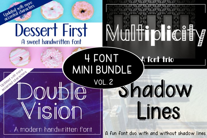 4 Font Mini Bundle - Volume 2