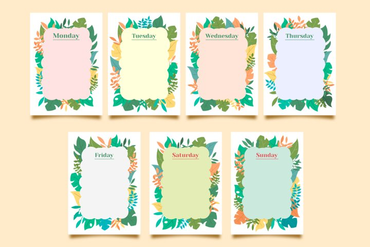 Natural Theme Planning Template