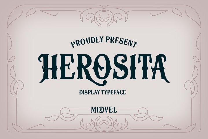 Herosita Typeface