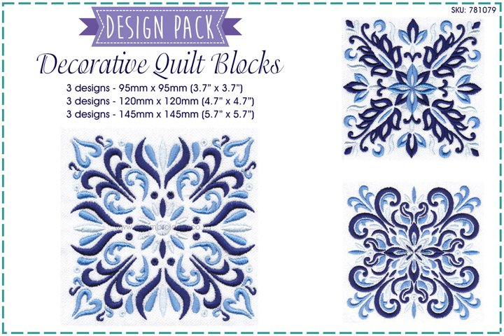 Decorative Quilt Block Design Pack