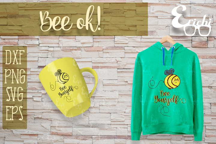 Bee ok! Cut File / SVG DXF PNG EPS