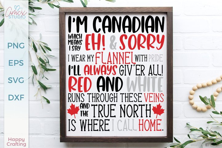 I am Canadian - Canada SVG File