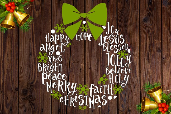Christmas wreath, SVG file
