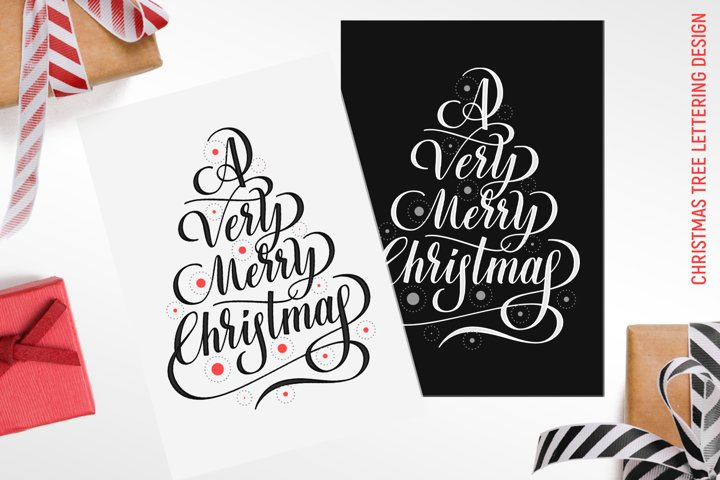 Christmas tree, Merry Christmas vector clipart