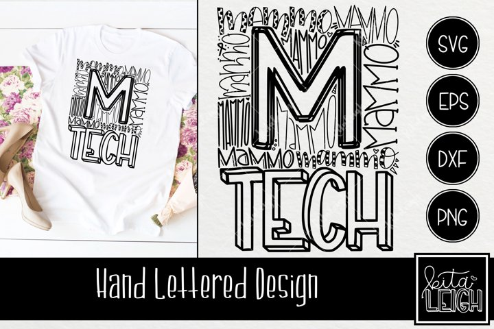 Mammogram Tech Typography