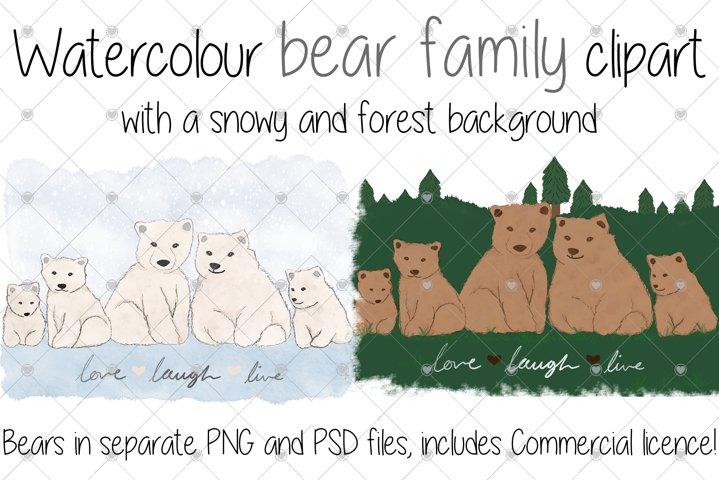 Watercolour, Bear, Animal, Animal Family, Polar bear, Bears,