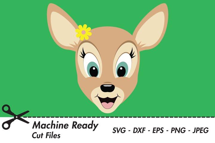 Cute Deer SVG Cut Files, PNG deer clipart, happy baby deer