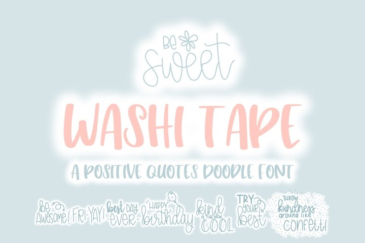 Washi Tape Doodle Font | Doodle Font