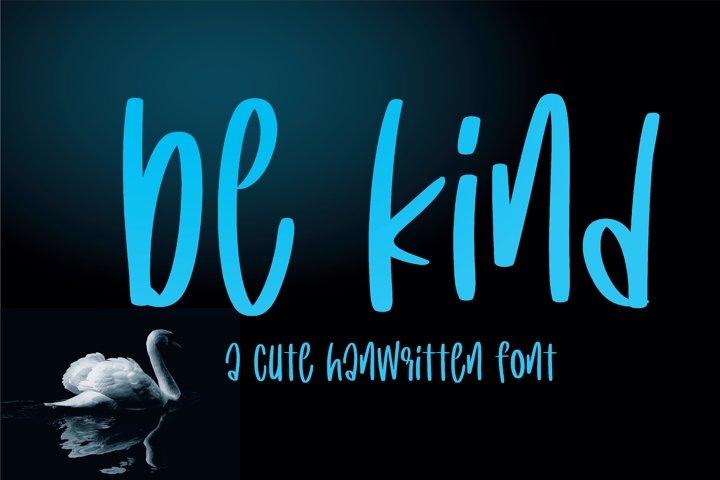 Be kind - A cute handritten font