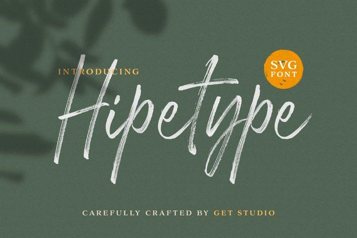Hipetype SVG Font