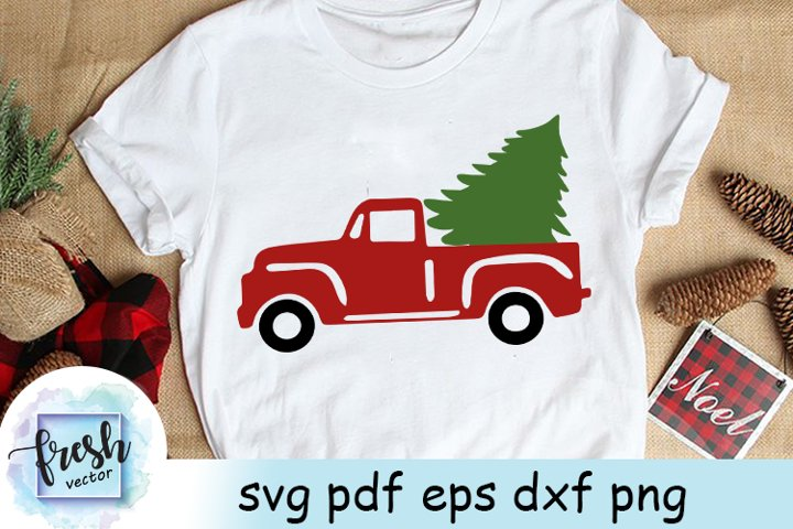 Christmas Truck Tree Svg Christmas Svg Red christmas treeVin
