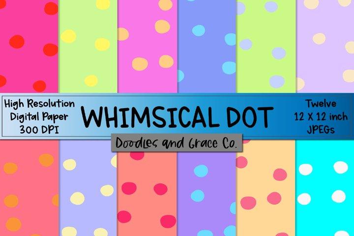 Whimsical Dot Digital Paper - Digital Paper - JPEG