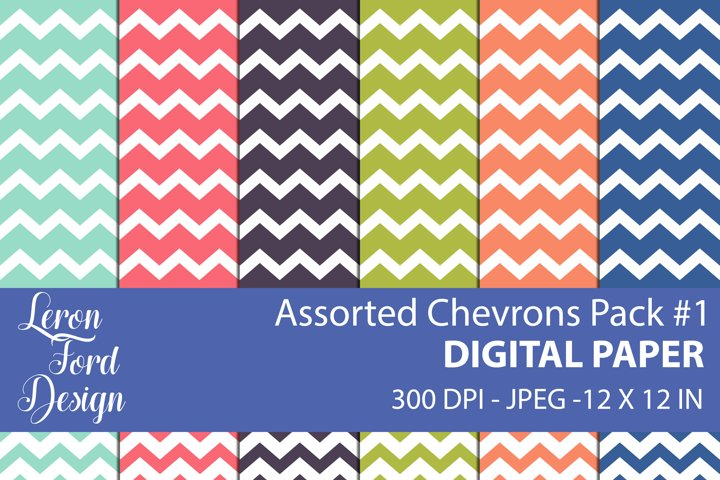 Assorted Chevrons Pack #1 Digital Paper