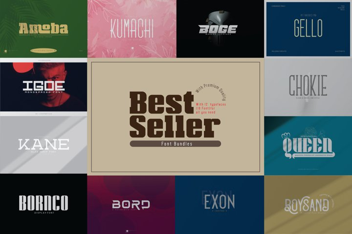 Best Seller Font Bundles