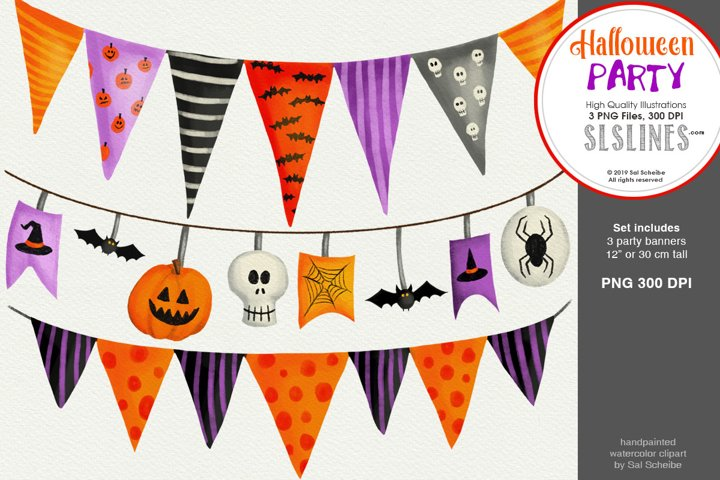 Halloween Party, 3 Spooky Party Banners
