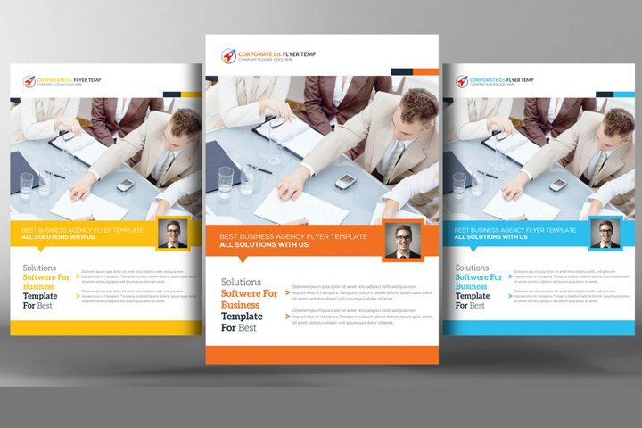 Clean & Modern Corporate Flyer Template