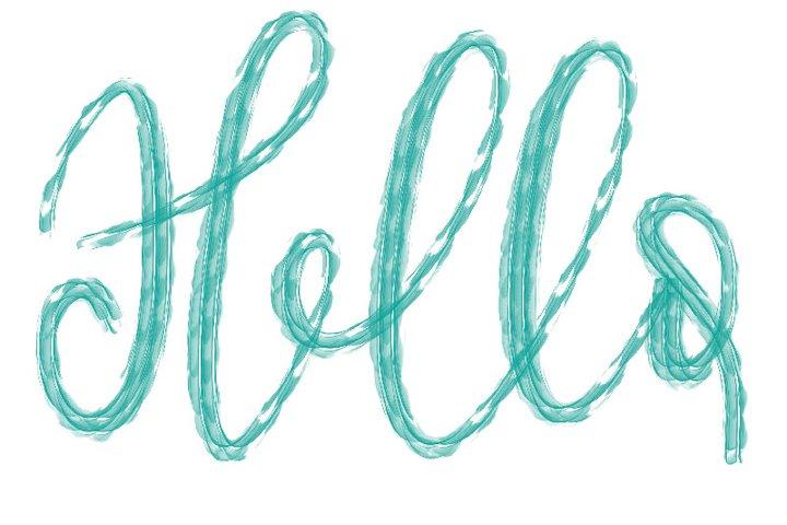 Procreate Brush - Hello Textured brush