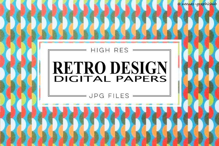 Retro Design Digital Papers