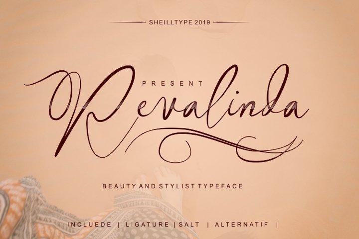 Revalinda Stylist Scripts font