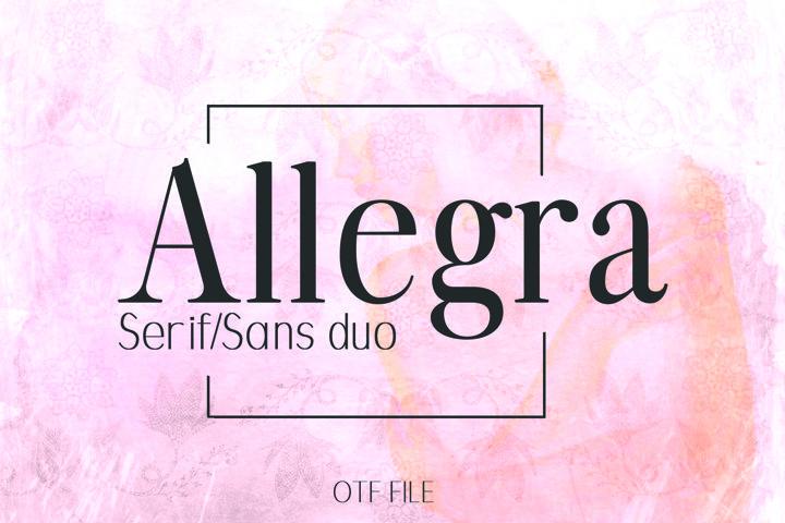 ALLEGRA, A Beautiful Font Duo