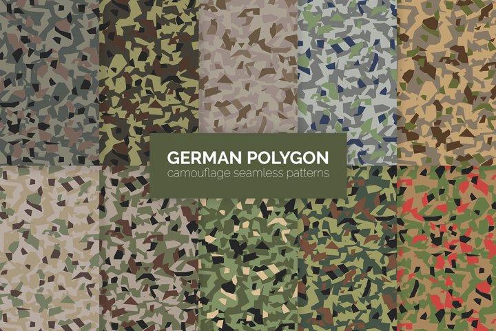 German Polygon Camouflage Patterns