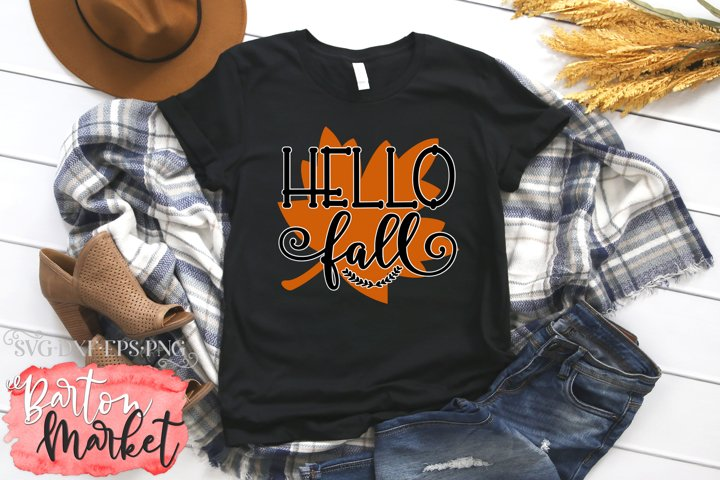 Hello Fall SVG DXF EPS PNG example 2