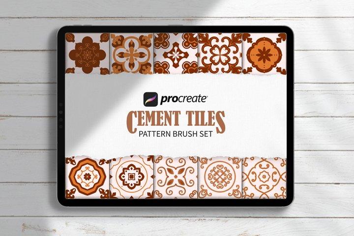 Procreate Cement Tiles Pattern Brush