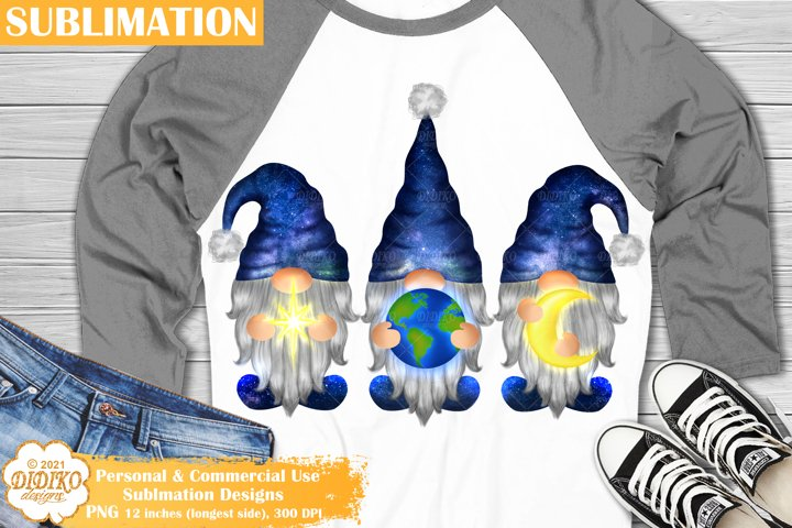 Gnome Sublimation Design, Gnomes Png, Galaxy Sublimation Png