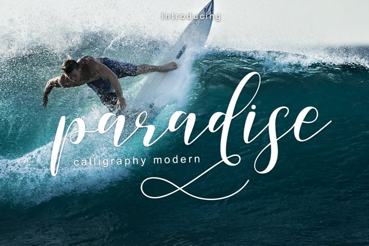 paradise calligraphy modern