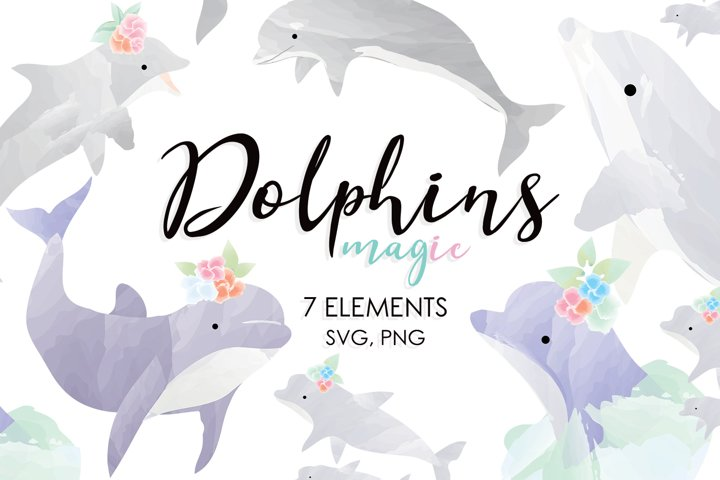 Watercolor Animals, Ocean, Animal Family, Animals, Dolphins