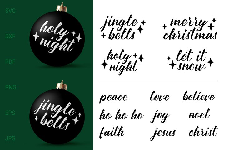 Christmas Ornament SVG Bundle. Christmas SVG Cut Files.