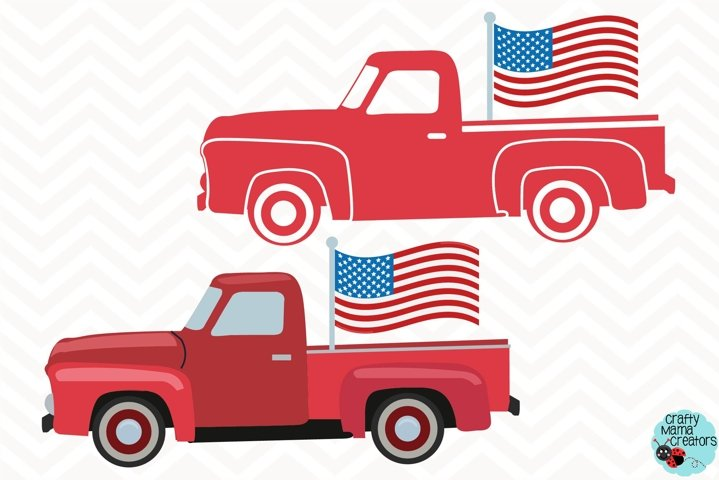 July 4th Truck Svg, Independence Day Clip Art, 4th of July