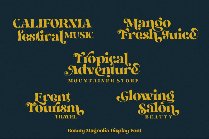 Beauty Magnolia - Display Font - Free Font Of The Week Design7