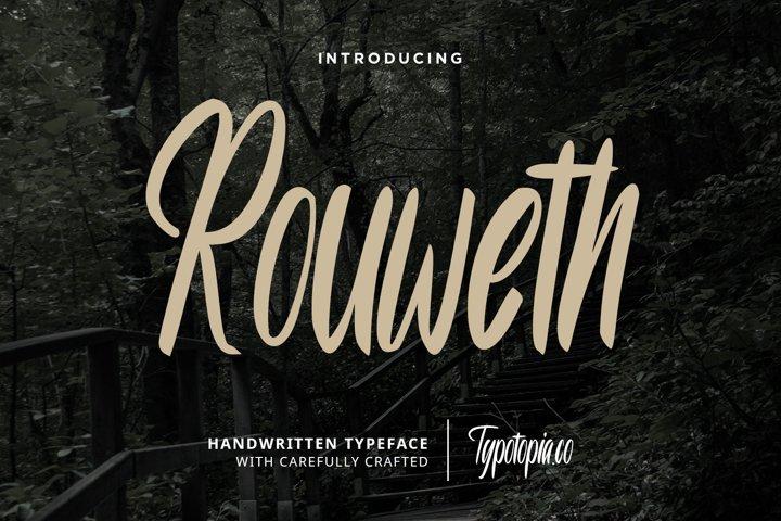 Rouweth Handwritten Typeface