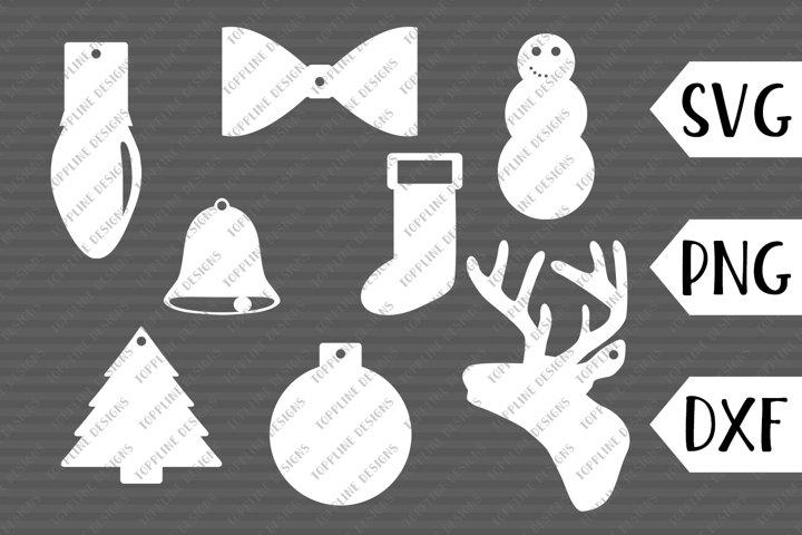 Christmas Gift Tags - Cut files, SVG, PNG - Christmas Symbol