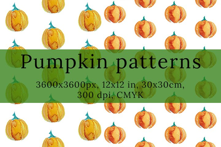 Watercolor Pumpkin pattern