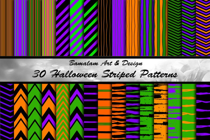 30 Halloween Striped Patterns