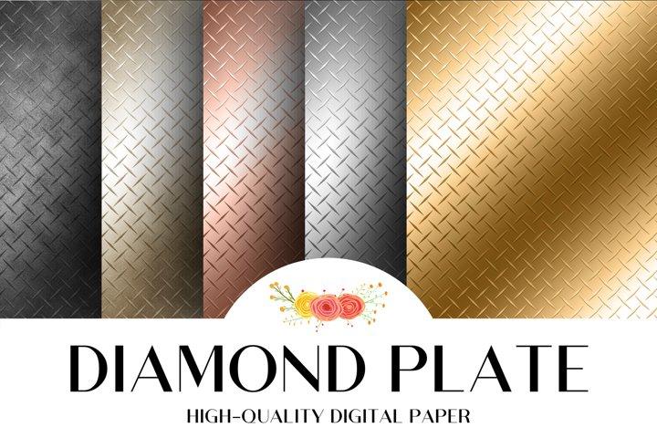 Diamond Plate Metallic Glossy Texture
