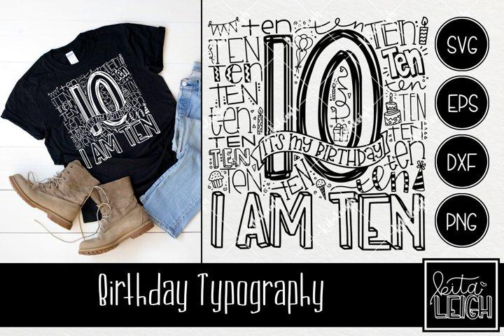 Tenth Birthday Typography